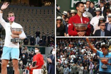 Prix de Roland-Garros: combien peuvent gagner Roger Federer, Rafael Nadal et Novak Djokovic