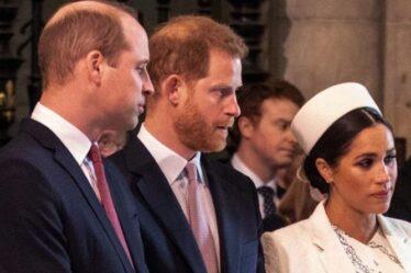 Meghan Markle appelée «impitoyable» par le prince William – la dispute amère avec Harry continue