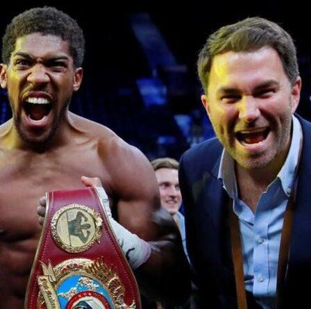 Anthony Joshua pense « probablement » que le combat de Tyson Fury « n'aura jamais lieu » – Eddie Hearn