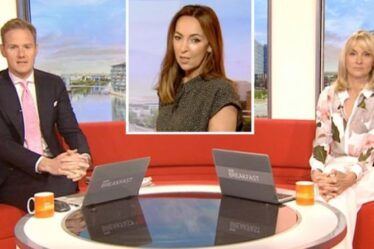 'Arrête ça!'  Sally Nugent réprimande les co-stars de la BBC Breakfast pour leurs querelles