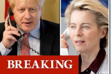Boris tient un appel urgent avec VDL avant le sommet - Le Premier ministre exige des progrès sur le naissain du Brexit