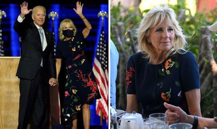 Jill Biden «splendide» dans une robe Oscar de la Renta de 4000 £ recyclée lors du sommet du G7