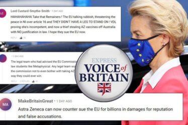 «L'UE raconte des bêtises!»  Les Britanniques FURIOUS alors que Bruxelles échoue devant le tribunal avec AstraZeneca