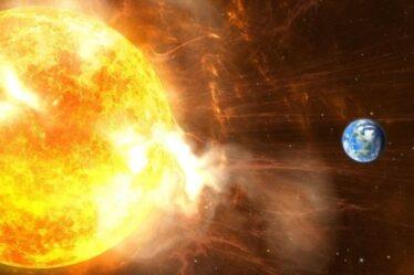 Les vents solaires se déplaçant à 300 km par seconde pour frapper la Terre aujourd'hui
