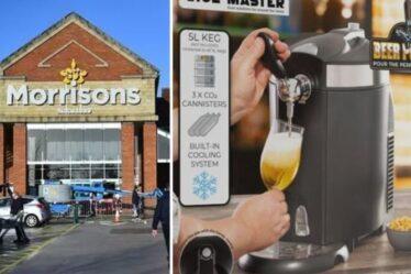 Morrisons lance une pompe à bière pression pour tirer des pintes à la maison avant le grand match