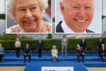 Queen fait rire les dirigeants du G7 avec une plaisanterie de «amusez-vous» alors qu'elle vole la vedette à Cornwall