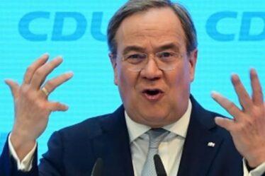 """Quel cauchemard!  Le chef de la CDU, Laschet, admet """"Je suis un mélange Macron-Merkel"""" alors qu'il promet PLUS d'UE"""
