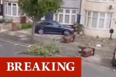 Regardez la tornade ravager Barking, Londres – des arbres arrachés du sol alors que les habitants paniquent