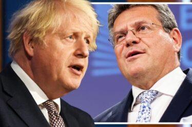 «L'action de l'UE est humiliante!»  Le Brexiteer sape le chef «absurde» Sefcovic après une menace légale
