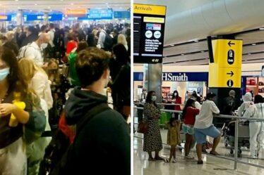 Chaos à Heathrow: d'énormes files d'attente alors que la pingdémie laisse «UNE personne au contrôle des passeports»