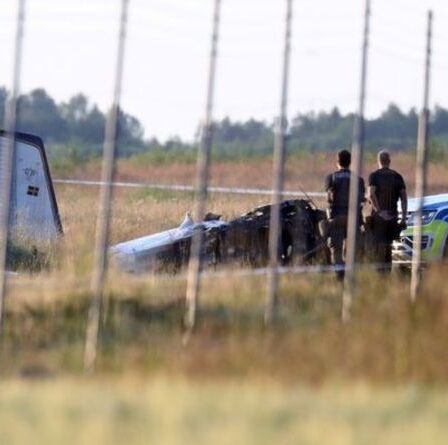 """Crash d'un avion en Suède : """"plusieurs"""" meurent dans le crash d'un vol transportant des parachutistes"""