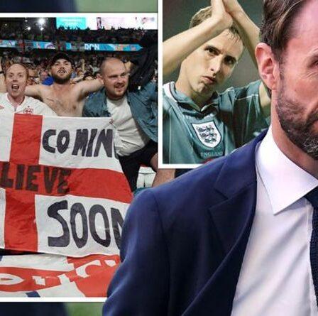 Emotional Gareth Southgate prononce un discours «fier» de l'Angleterre devant les fans avant la finale italienne