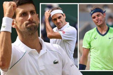 La longue attente de Novak Djokovic pour les éloges de Roger Federer et Rafael Nadal pourrait enfin être terminée