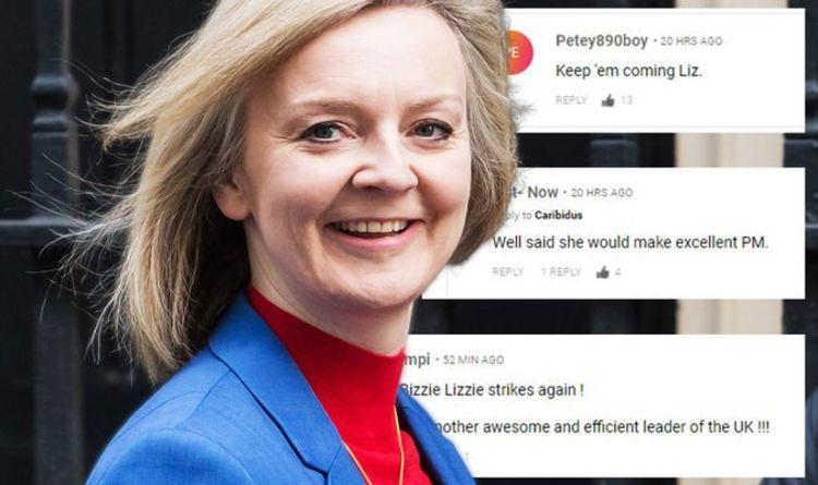 """Liz Truss a célébré après avoir obtenu l'accord du tour du chapeau sur le Brexit - """"Gardez-les à venir!"""""""