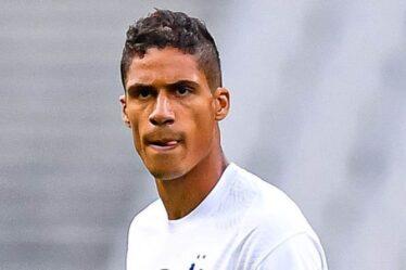 """Manchester United """"fixe le prix maximum pour l'accord Raphael Varane"""" avec Jadon Sancho en tête"""