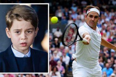 """Séance de tennis privée de Prince George avec Roger Federer : """"Il avait un bon swing"""""""