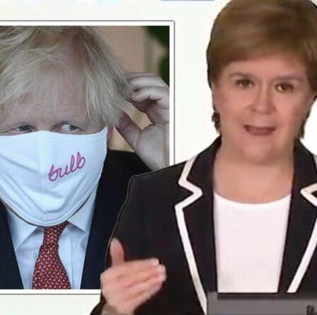 Sturgeon déchire Boris pour « avoir jeté la prudence au vent » et déchire ses plans du 19 juillet