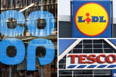 Tesco, Lidl et Co-op ferment à 19h45 le dimanche en bouleversement des horaires d'ouverture