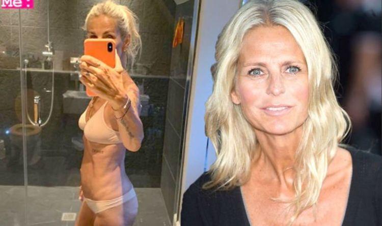 Ulrika Jonsson pose en sous-vêtements juste chair après avoir riposté à un jeu de tir nu