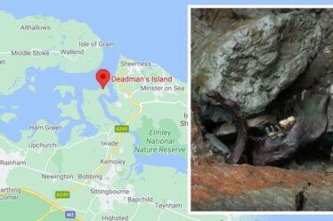 Une île oubliée avec des «cercueils ouverts et des ossements» a émergé de la rivière Kent: «Comme un film d'horreur»