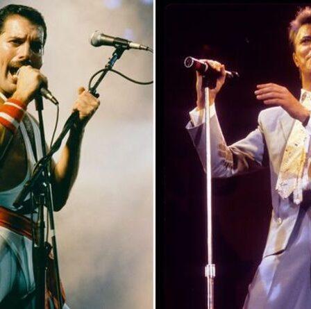 """Freddie Mercury: David Bowie a fait allusion à une brève romance avec le chanteur de Queen """"Nos chemins se sont croisés"""""""