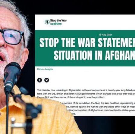 La coalition Stop the War, soutenue par Jeremy Corbyn, exige que le Royaume-Uni verse des réparations aux talibans