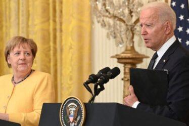 La dispute Merkel-Biden éclate alors que les États-Unis envoient un responsable pour « surveiller » de près l'accord avec la Russie