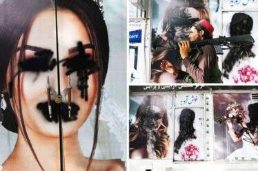 La répression effrayante des talibans COMMENCE : des visages de femmes brutalement défigurés dans un salon de beauté de Kaboul
