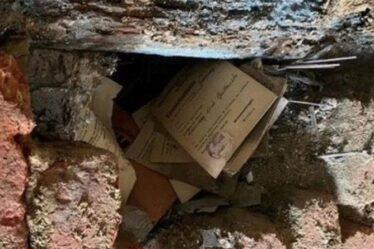 Les archéologues chancelaient alors que les inondations en Allemagne découvrent des fichiers nazis extrêmement rares