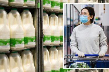 Pénurie de lait dans les supermarchés « préoccupante » alors que le Royaume-Uni pourrait faire face à une « perturbation estivale »