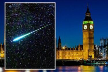 Pluie de météores au Royaume-Uni: les Perséides sont arrivés – mais les astronomes de Londres ont reçu un avertissement