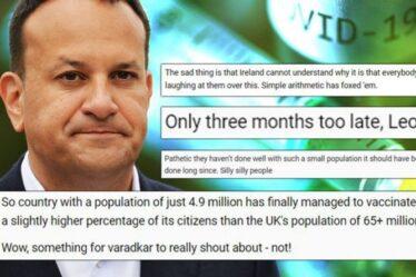 «Tout le monde se moque de vous» Les Britanniques font rage alors que la fête de Varadkar fait un jibe de vaccin «sans goût»