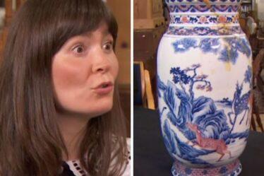 Un expert de Bargain Hunt perdu pour des mots sur l'évaluation d'un vase chinois cassé d'une valeur de milliers
