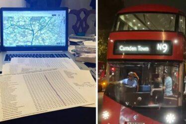 «Un peu d'évasion!»  Un homme voyage en 14 bus locaux de Londres au Lancashire en une journée seulement