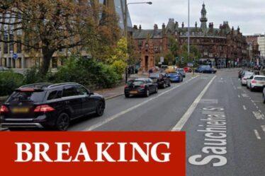 Urgence de Glasgow: la rue de verrouillage de la police comme réponse majeure dans le centre-ville