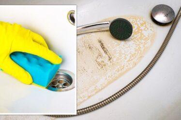«Va laver!»  Les fans de Mme Hinch partagent un hack de 1 £ pour éliminer les «taches» de calcaire des bains