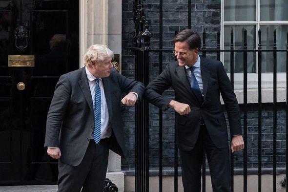 Boris Johnson rencontre Mark Rutte