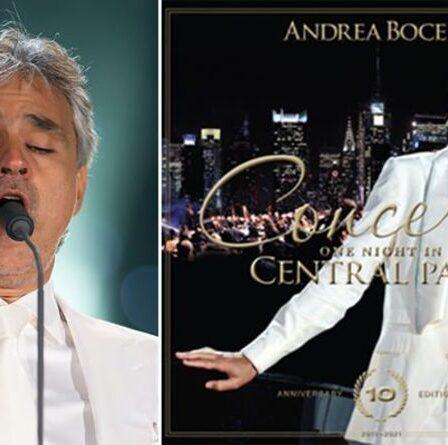 Andrea Bocelli annonce une projection spéciale du concert YouTube ce dimanche – Comment regarder
