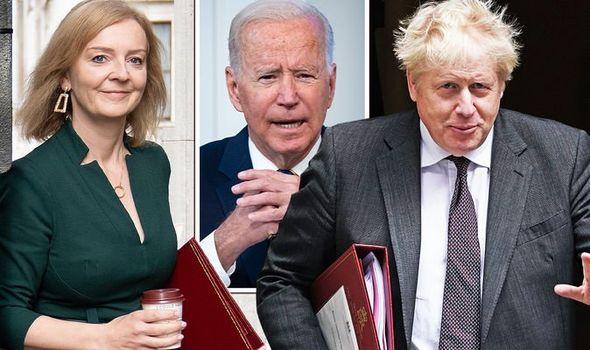 Liz Truss, Joe Biden et Boris Johnson