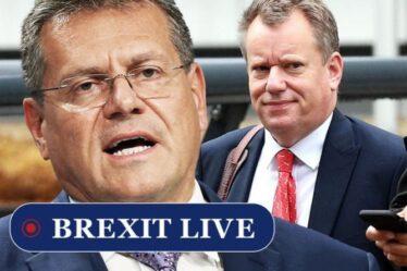 Brexit EN DIRECT: Frost dans un ultimatum brutal pour déchirer l'accord détesté de l'UE alors que Sefcovic panique