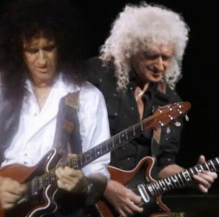 Brian May canalise Retour vers le futur en duo avec lui-même plus jeune dans un nouveau clip