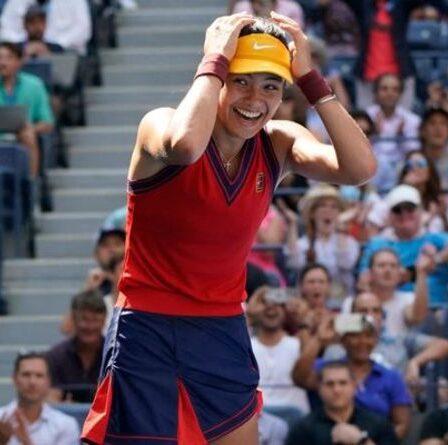 Emma Raducanu réagit en devenant n ° 1 britannique après avoir atteint les demi-finales de l'US Open