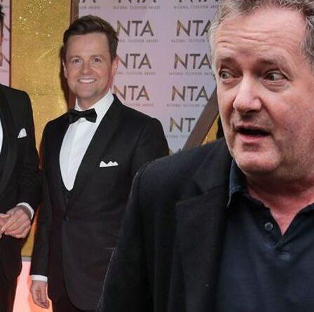 « Enterrez-les » Piers Morgan prend un autre coup à Ant et Dec après la misère de la NTA 2021