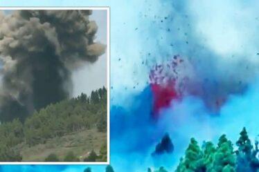 Éruption de La Palma : moment terrifiant, le volcan crache un nuage de cendres noires dans le ciel – VIDEO