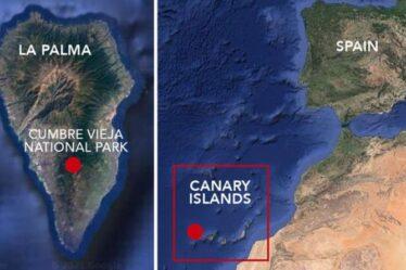 Éruption volcanique des îles Canaries MAPPED: la cinquième ouverture éclate à La Palma