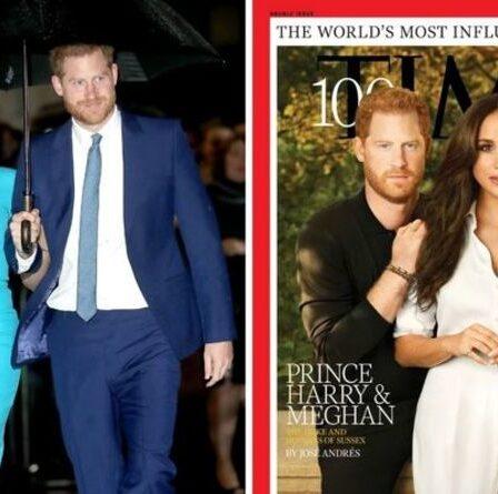 Le cliché de couverture Time 100 « fortement aérographe » de Harry et Meghan suscite une réaction « la photo la plus étrange »