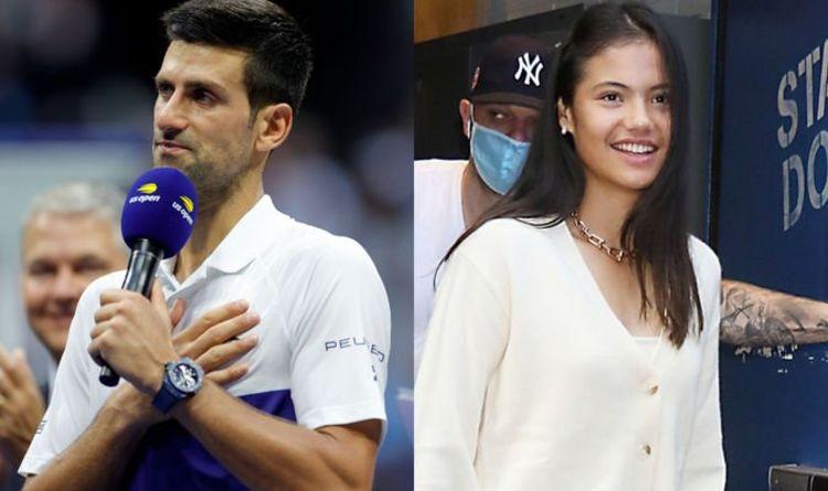 Le message sincère de Novak Djokovic à la «fantastique» Emma Raducanu