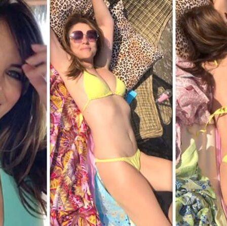 Liz Hurley, 56 ans, suscite la frénésie alors qu'elle se roule en bikini audacieux dans une nouvelle vidéo à couper le souffle