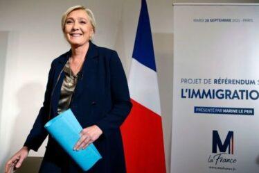 """Marine Le Pen annonce """"un plan complet pour reprendre le contrôle"""" avec la candidature au référendum sur l'immigration"""