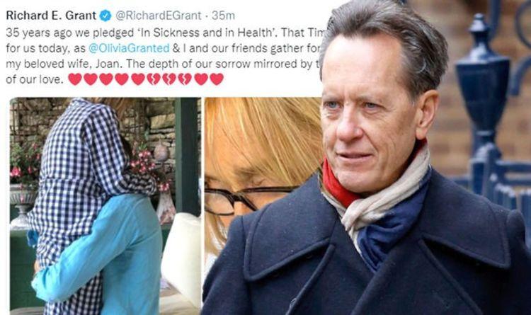 """Richard E Grant partage la """"profondeur de sa tristesse"""" alors qu'il se prépare à assister aux funérailles de sa défunte épouse"""